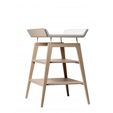 Table à langer Linea avec matelas en mousse Hêtre